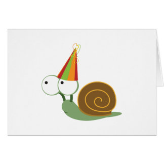 Party-Schnecke Karte