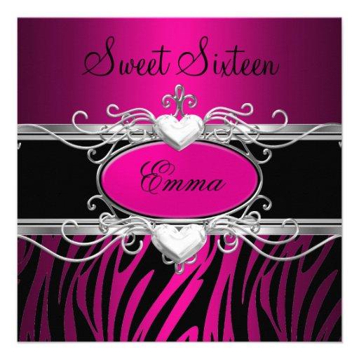 Party-silberner rosa schwarzer Leopard 16. Individuelle Einladungen