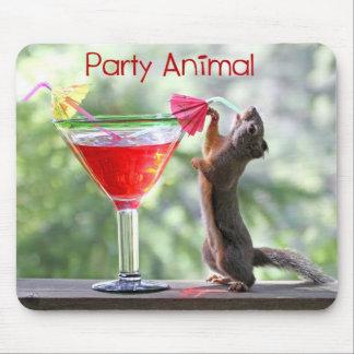 Party-Tier-Eichhörnchen Mousepad