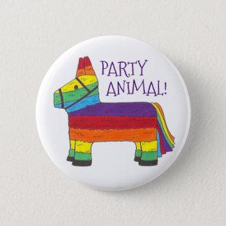 Party-TIERregenbogen-Esel Piñata Runder Button 5,7 Cm