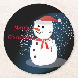 Party-Untersetzermassenbrett frohe Weihnachten Runder Pappuntersetzer