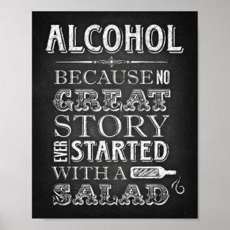 Party unterzeichnet,/ALKOHOL kein großes Poster