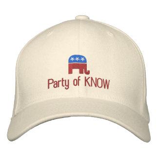 Party von kennen lustigen politischen Republikaner Bestickte Baseballkappe