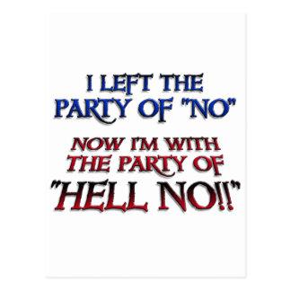 Party von nein postkarte