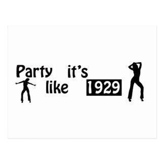 Party wie es ist 1929 postkarte