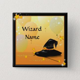 Party-Zauberer-Name Hexe-Halloweens bezaubernder Quadratischer Button 5,1 Cm