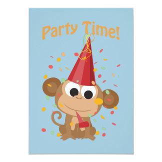 Party-Zeit! Confetti-Affe-Party Einladung