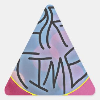 Party-Zeit Dreieckiger Aufkleber