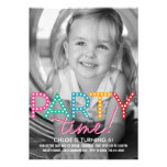 Party-Zeit-Foto-Geburtstags-Einladung