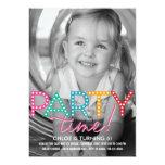 Party-Zeit-Foto-Geburtstags-Einladung 12,7 X 17,8 Cm Einladungskarte