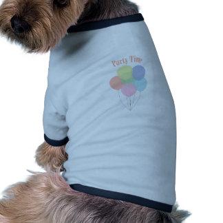 Party-Zeit Hund T Shirts