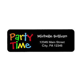 Party-Zeit Rücksende Aufkleber