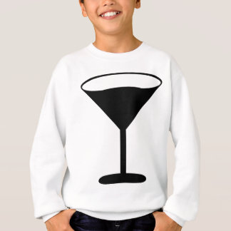 Partycocktail-Ikonenschwarzes Sweatshirt