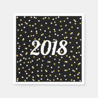 Partydekor der neuen Jahre GoldGlitter Confetti + Serviette