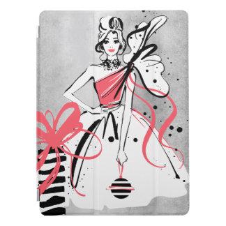 Partymädchen auf silbernem Hintergrund iPad Pro Hülle