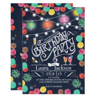Partysommertafel | Geburtstags-Einladungen Karte
