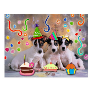Partytiere, feiernde Hunde Postkarte