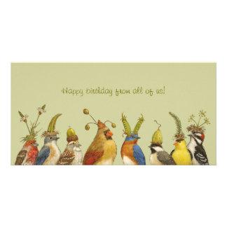 Partyvögel auf alles Gute zum Geburtstag von allen Personalisierte Photo Karte