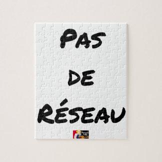 PAS DE RÉSEAU - Wortspiele - Francois Ville Puzzle