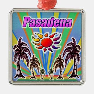 Pasadena-Sommer-Liebe Silbernes Ornament