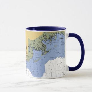 Pascagoula, Mississippiseediagramm-Kaffee Tasse