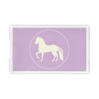 Paso Fino PferdeSilhouette Acryl Tablett