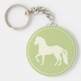 Paso Fino PferdeSilhouette Schlüsselanhänger
