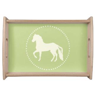 Paso Fino PferdeSilhouette Serviertablett