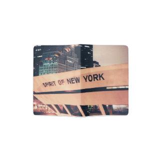 Pass-Abdeckung mit New- Yorkschiffs-Foto Passhülle