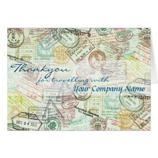 Pass-Briefmarke Reise-Gruß Karte-Danken Ihnen Karte