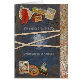 Pass-Einladung Mitteilungskarte