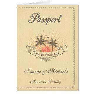 Pass-Einladung oder Save the Date - Strand Karte