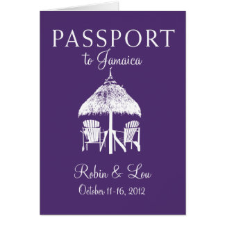 Pass-Geburtstags-Reise-Geschenk Montego Bays Karte