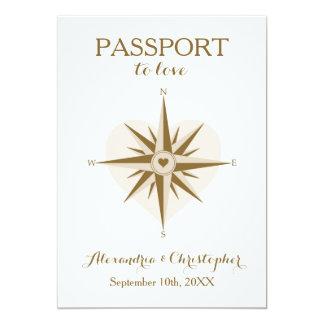 Pass-Hochzeit laden - Bestimmungsort-Reise-Thema Karte