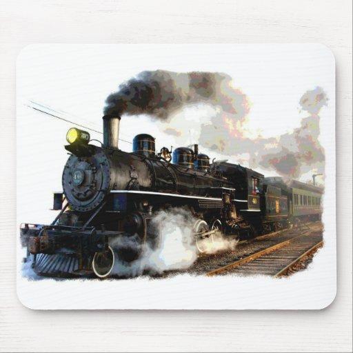 Passagier-Dampf-Zug Mousepad