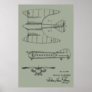 Passagier-Flugzeug-Patent-Kunst 1946, die Druck Poster