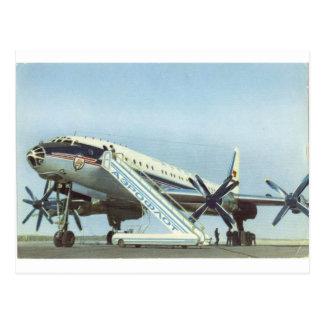 PASSAGIERFLUGZEUG Aeroflots Tu 114 Postkarte