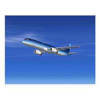 Passagierflugzeug-Flugzeuge des JetA321 Postkarte