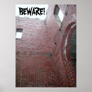 PASSEN Sie auf! HALLOWEEN-PLAKAT Poster