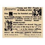 Passen Sie auf! Jung und alt in allen Bezirken! Postkarte