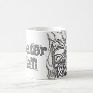 passen Sie auf Kaffeetasse