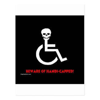 Passen Sie auf Postkarte