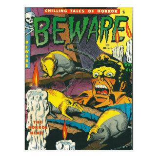 Passen Sie Comicbuch auf Postkarte