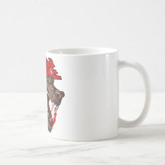 Passen Sie den Wolf auf Kaffeetasse