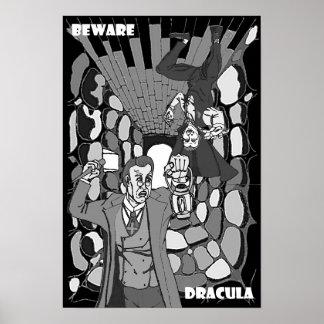 Passen Sie Dracula-Plakat auf Poster