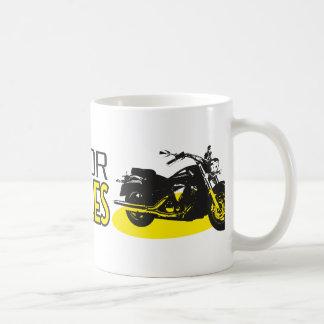 Passen Sie für Motorräder auf Kaffeetasse