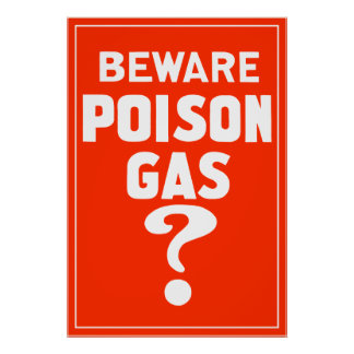 Passen Sie Gift-Gas auf? Poster