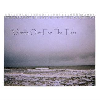 Passen Sie heraus für den Gezeiten-Kalender auf Wandkalender
