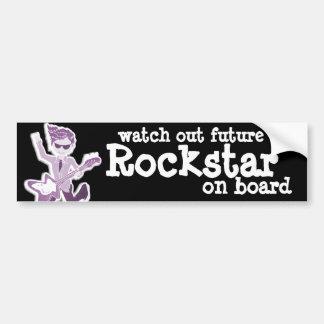 """""""passen Sie heraus zukünftiges Rockstar an Bord"""" Autoaufkleber"""