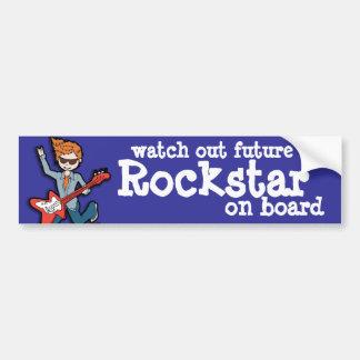 Passen Sie heraus zukünftiges Rockstar an Bord des Autoaufkleber